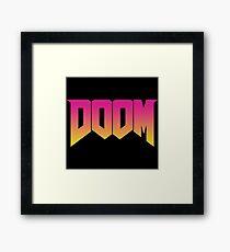 Doom Retro Framed Print