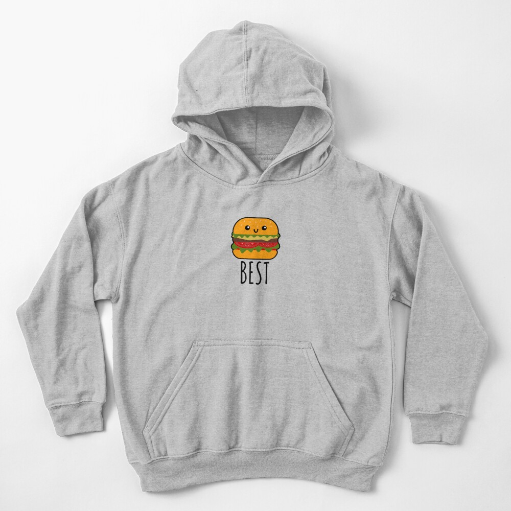 Best Friends - Burger and Fries Matching Gift Kids Pullover Hoodie