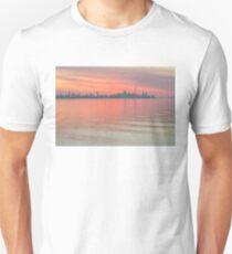 Glorious Brushstrokes - Toronto Skyline at Dawn Unisex T-Shirt