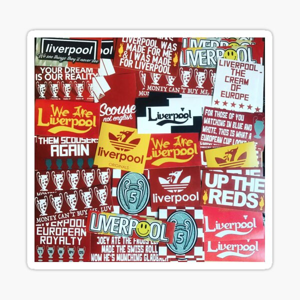 Liverpool  Multi Sticker look - Artists impression Scouse - Liverpool Phone Case Sticker