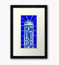 SHERLOCK BLUE Framed Print