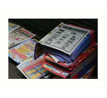 Chinese Newspapers Art Print