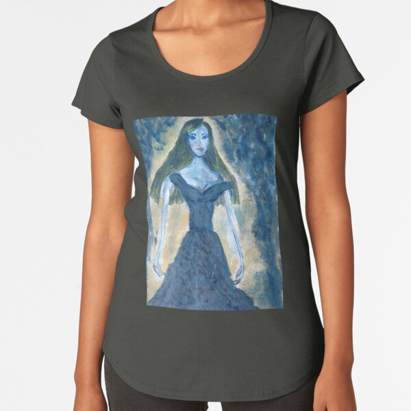 A Girl in A Blue Dress (Rusalka) Premium Scoop T-Shirt