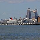Cruise Ship Docked New York by pmarella