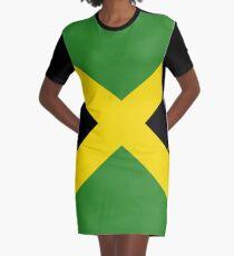 Jamaica Flag Mini Skirt Dress Graphic T-Shirt Dress