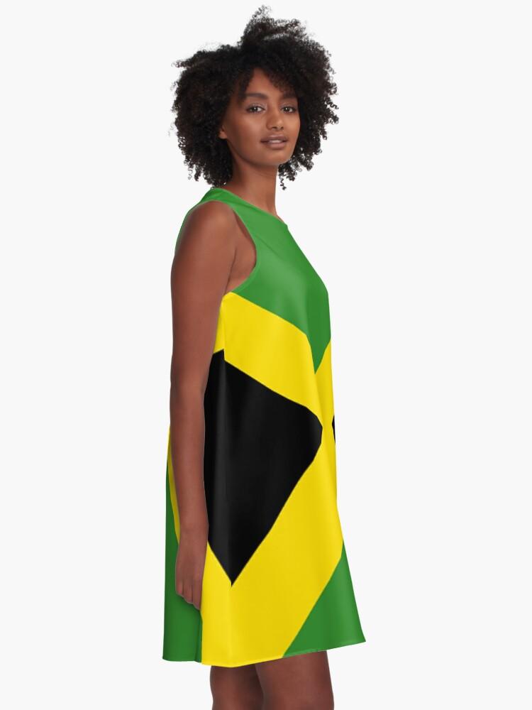 Alternate view of Jamaica Flag Mini Skirt Dress A-Line Dress