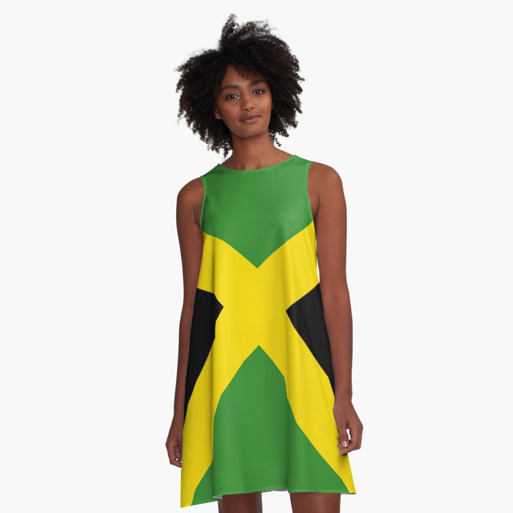 Jamaica Flag Mini Skirt Dress A-Line Dress