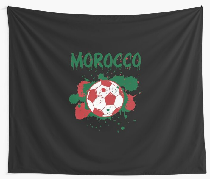 0ed50d84794 Morocco Soccer T-Shirt Fan Football Gift Cool Funny Quote - Morocco Soccer  Proud Fan Graphic Tee Shirts
