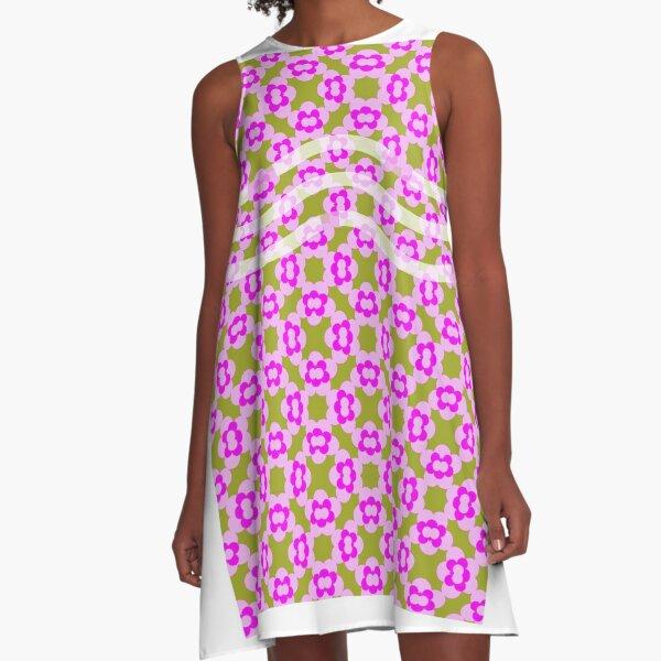Floral pink  green A-Line Dress