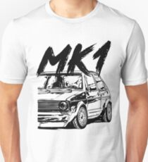 Golf 1 MK1 & quot; Dirty Style & quot; Unisex T-Shirt