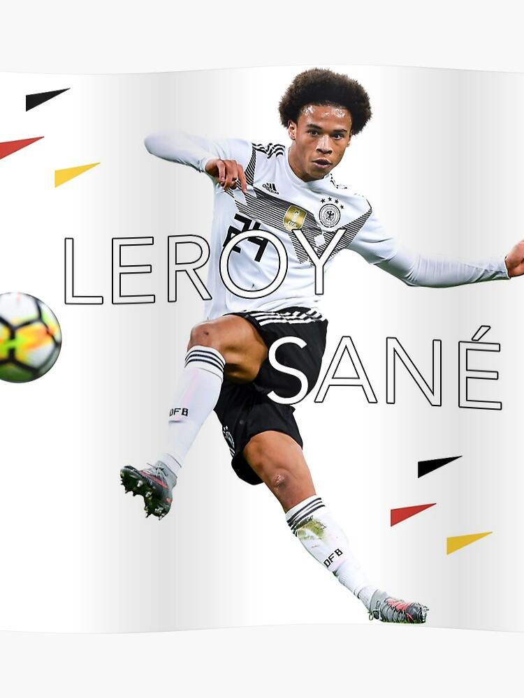 innovative design 181dd 32cce Leroy Sane (Germany World Cup 2018)   Poster