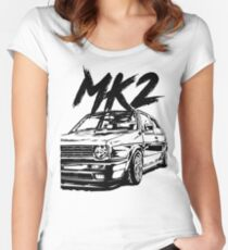 "Golf MK2 MK2 ""Dirty Style"" Women's Fitted Scoop T-Shirt"