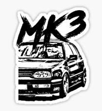 "Golf MK3 MK3 ""Dirty Style"" Sticker"