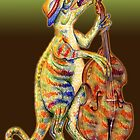 Jurassic Jazz - Utahraptor plays Double Bass by MissMusica