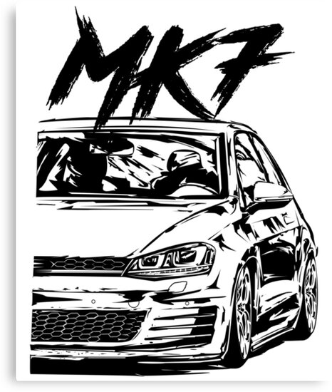 golf 7 gti mk7 gti quot dirty style quot canvas prints by VW Polo 2002 golf 7 gti mk7 gti quot dirty style quot by glstkrrn