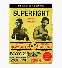 Manny Pacquiao Vs Floyd Mayweather Photographic Print