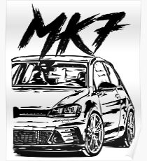 Golf 7 Clubsport MK7 Clubsport & quot; Dirty Style & quot; Poster