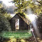 ASHBURNHAM BOAT HOUSE/BIBLE VERSE 'Sound Mind' by Shoshonan