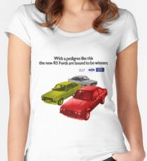 FORD ESCORT RS RANGE - 1976 MK2 Women's Fitted Scoop T-Shirt