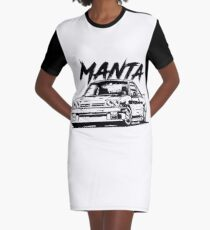 Manta B & quot; Dirty Style & quot; Graphic T-Shirt Dress