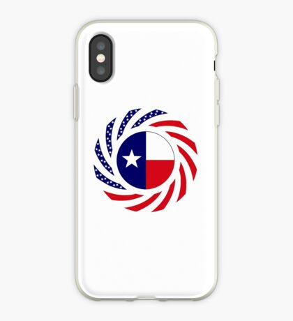 Texan Murican Patriot Flag Series iPhone Case