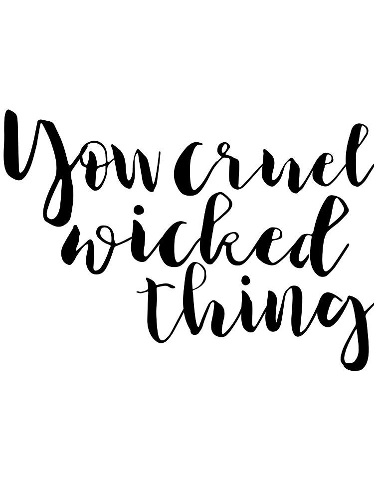 Eres cruel y malvado. - Rhysand de thebookishshop
