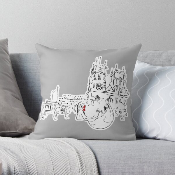 Royal Wedding - William and Kate at Westminster Abbey Throw Pillow