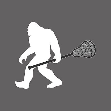 Lacrosse Bigfoot Funny Design  by kudostees