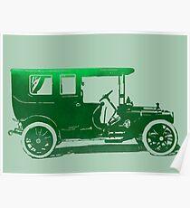 1909 Packard Limousine Green Pop Poster