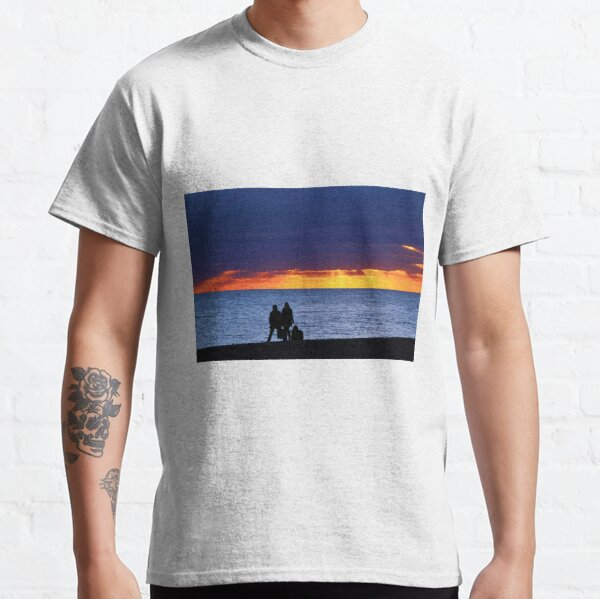 Brighton Beach - Watching the sunset. Classic T-Shirt