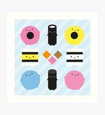 Kawaii Candy Liquorice Allsorts Art Print
