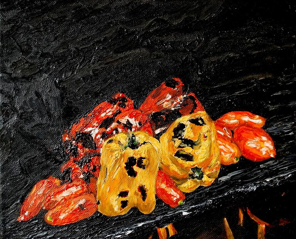 Italian peppers by Veroniquedidi