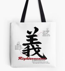 Righteousness Tote Bag