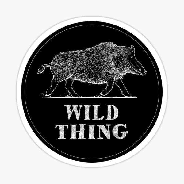 Wild Thing - Woodcut Style Boar Sticker