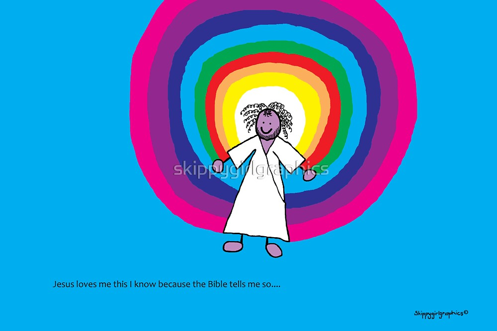 Jesus loves me this I know - A child's Prayer Card No 4 by skippygirlgraphics