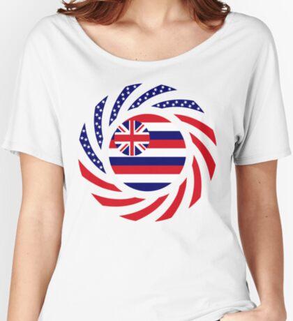 Hawaiian Murican Patriot Flag Series Relaxed Fit T-Shirt