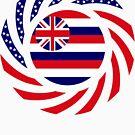 Hawaiian Murican Patriot Flag Series by Carbon-Fibre Media