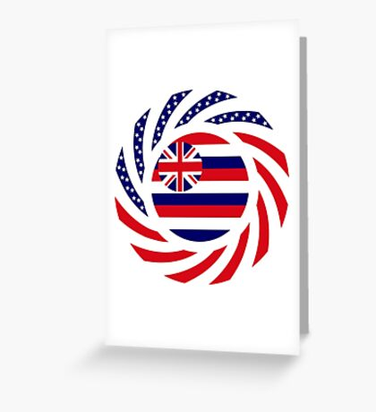 Hawaiian Murican Patriot Flag Series Greeting Card