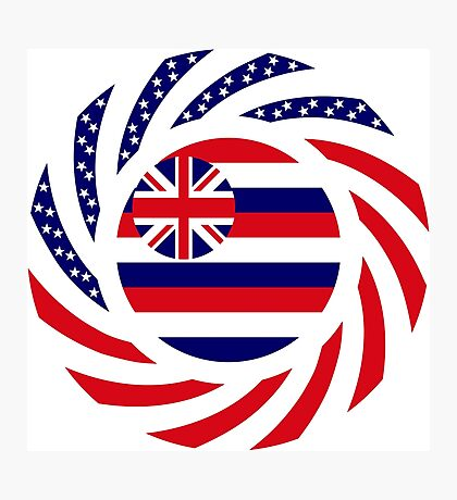 Hawaiian Murican Patriot Flag Series Photographic Print