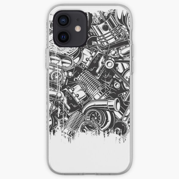 Car Parts Collage Car Enthusiast  iPhone Soft Case