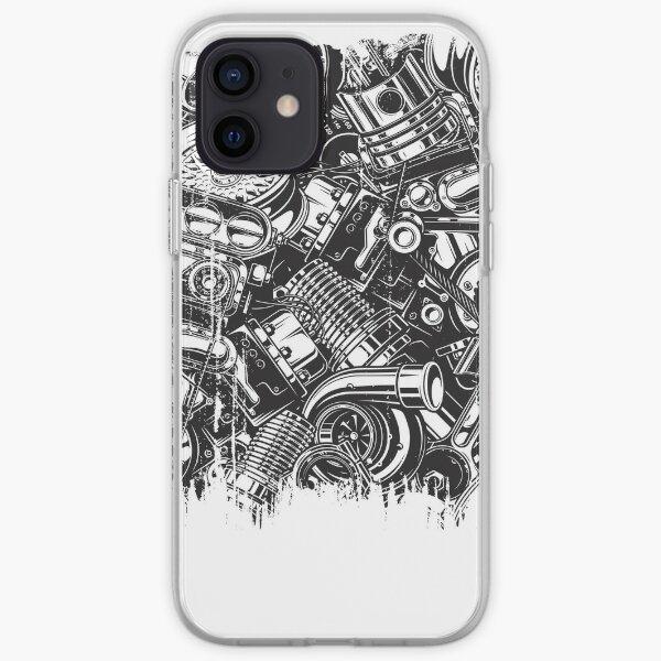 Enthousiaste de voiture de collage de pièces de voiture Coque souple iPhone