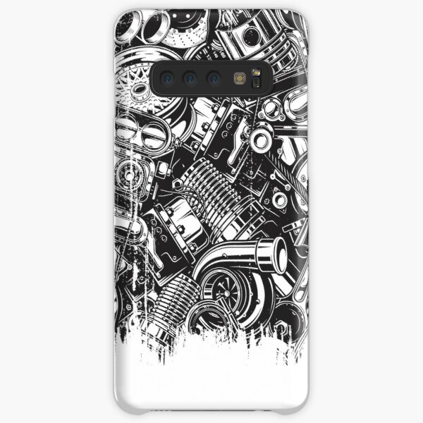 Car Parts Collage Car Enthusiast  Samsung Galaxy Snap Case