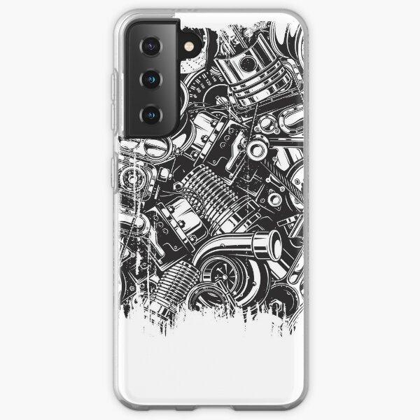Car Parts Collage Car Enthusiast  Samsung Galaxy Soft Case
