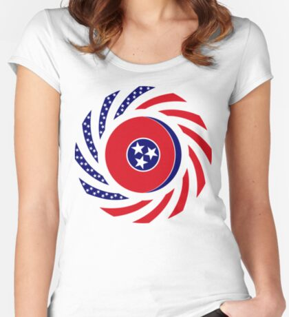 Tennessean Murican Patriot Flag Series Fitted Scoop T-Shirt