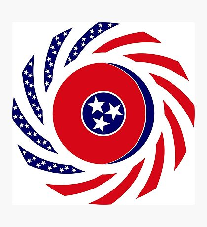 Tennessean Murican Patriot Flag Series Photographic Print