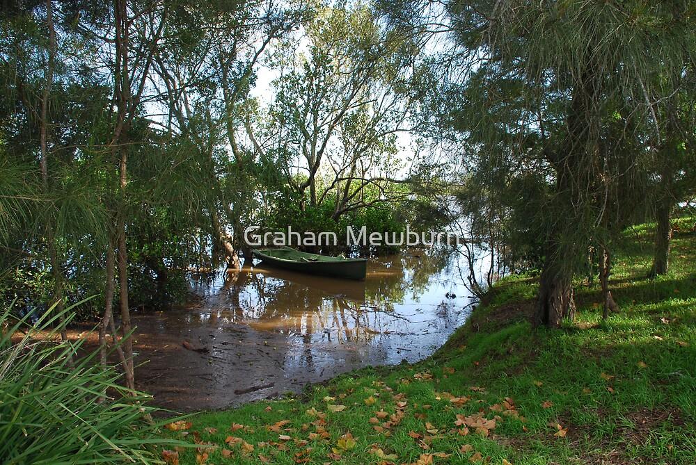 Autumn flood by Graham Mewburn
