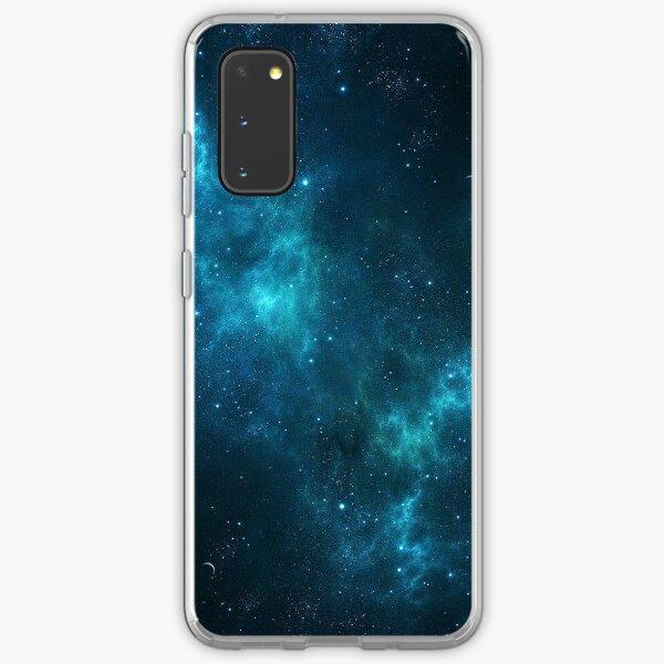 Deep Space Galaxy Blue iPhone & Samsung Phone Case Samsung Galaxy Soft Case
