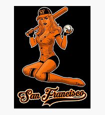 SF Giants Pin-Up Girl 2 Photographic Print