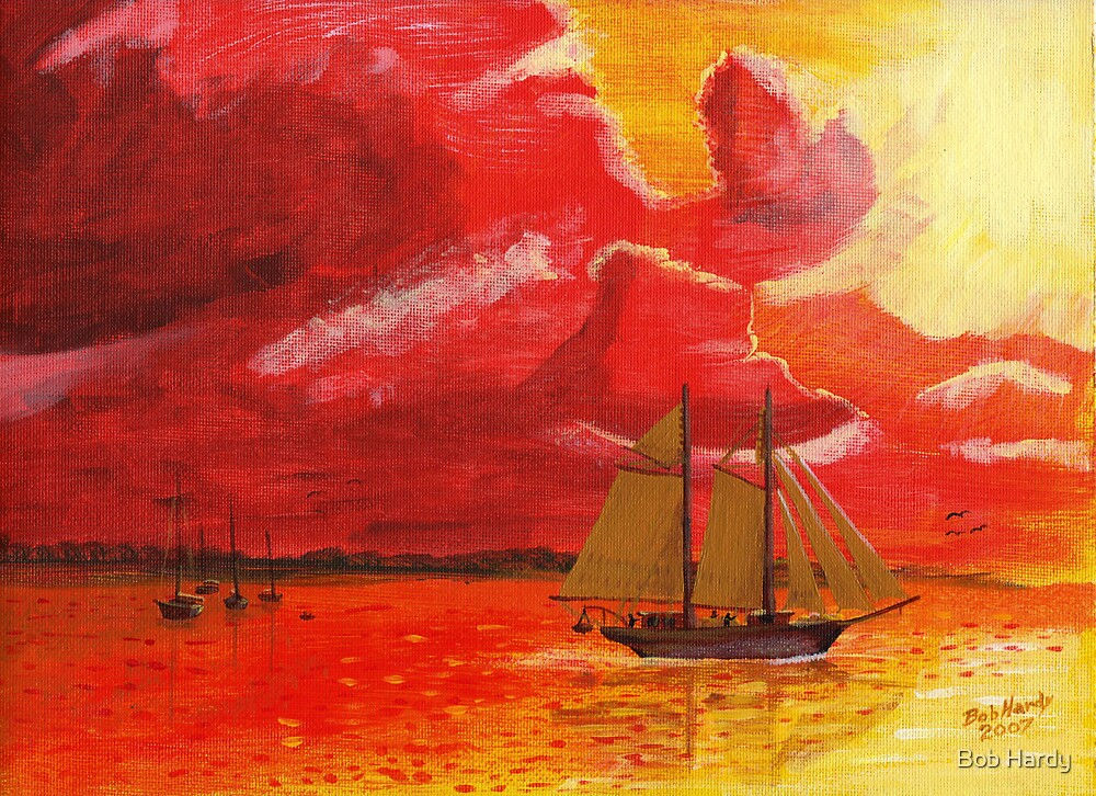 Daybreak on the bay by Bob Hardy