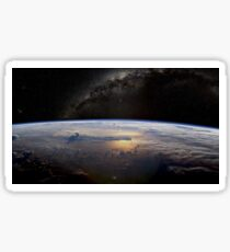Earth horizon from space  Sticker
